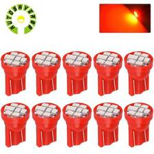 10X Red T10 194 Wedge 8SMD LED Instrument Dash Dome Map Interior Light Bulbs W5W