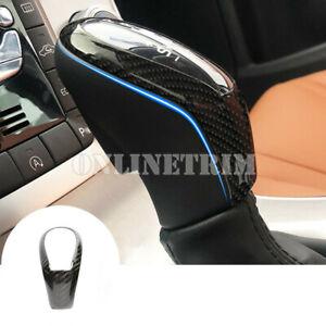 Carbon Fiber Center Console Gear Shift Knob Cover Trim For Volvo V40 2012-2019