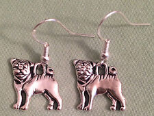 PUG DOG EARRINGS - Pewter with Sterling Silver Ear Wires SHARPEI