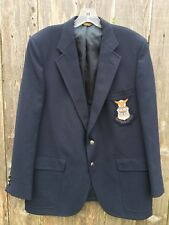 PALM BEACH Mens Blue Blazer 2 Button Sport Coat AIR FORCE USAF Crest Sz 42R LNC