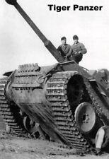Char Tigre en Action Pancarte Tôle Signe Métal Voûté Étain 20 X 30 Cm