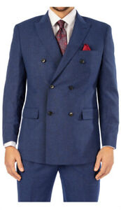 Steve Harvey Sampson Mens Cobalt Blue Suit Jacket 48 Regular