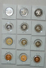 JAMAICA 1 5 10 20 CENT RARE LOW MINTAGE CAMEO MATTE COIN LOT 1974 1971 1973 1975