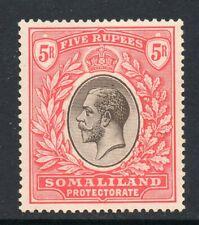 Somaliland 1921 KGV 5R wmk MSCA SG 85 mint