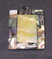 Inlaid Mother of Pearl Square Pendant (52418)
