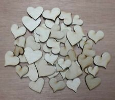 Hearts - unfinished wood cutouts (lot of 50 pieces)