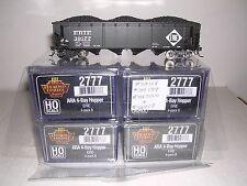 """B.L.I. #2777  Erie ARA 70 Ton 4-Bay """"Black"""" Hopper Cars  w/4 Diff.#s  H.O.Gauge"""