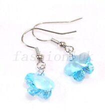 Orecchini di bigiotteria blu pendente in cristallo