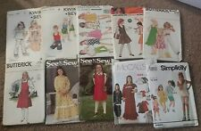 Lot of 10 Childs Sewing Patterns Childrens Simplicity McCalls Butterick UNCUT