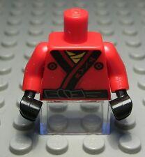 Lego Figur Zubehör Oberteil Rot mit Dekor                                 (64 #)