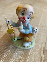 Vintage Porcelain Figurine Lefton Clown 1984 #04036