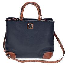 Dooney & Bourke Black Pebble Leather Satchel handbag NEW