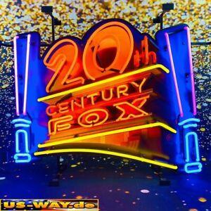 """N-0142 Neon """" 20 th Century Fox """" Schild Leuchtreklame Diner Neonreklame Vintage"""