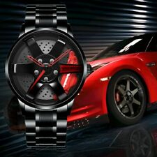 Rim Hub Watch Men Custom Design Car Wheel Men Watch Quartz Stainless Steel Watch