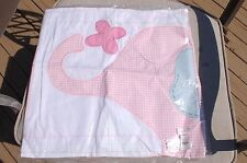 Pottery Barn Kids ELI'S PINK ELEPHANTGINGHAM NURSERY Decorative Sham Cover GIRL