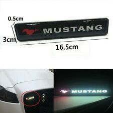 MUSTANG Logo LED Light Emblem Car Front Grille Badge Fit For All Mustang car