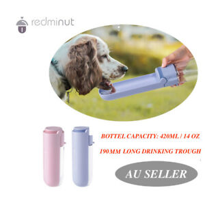 420 ML Dog Drinking Bottle water feeder dispenser pet cup bowl outdoor  portable