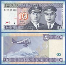 Lithuania 10 Litu P 68 2007 UNC Low Shipping! Combine FREE!