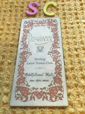 More details for antique 1904 oddfellows meeting programme card dorking