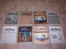 ABEKA 5th GRADE OLD WORLD HISTORY NEWEST ED. CLEAN BOOKS NO MISSING PAGES