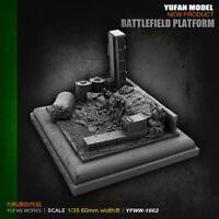 1:35 Platform for Figurines Accessories 3 Soldier Unassembled Resin model 50mm