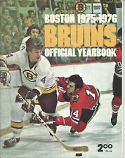 1975 Boston Bruins hockey yearbook, Bobby Orr, Phil Esposito GOOD