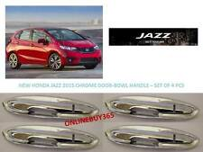 Imported Premium Quality New Honda Jazz 2015 Chrome Door Bowl-Handle - Set of 4