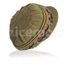 "Selassie Rastafari Hat Rasta Cap Reggae Jamaica Marley Hats Africa M/L 9"" Crown"