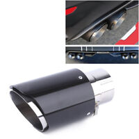 Real Carbon Fiber Auto SUV Exhaust Pipe Muffler End Tips For Car 63mm-89mm Super