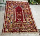 """Vintage India Pakastan Wool Rug Carpet 5'6""""' x 3'10"""""""