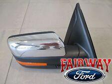 11 thru 14 F150 OEM Ford Power Fold Heated Signal Puddle Mirror Passenger Chrome