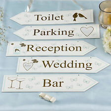 Wedding Signs Party Signage Directions (5) Blue & Gold Vintage Decorations