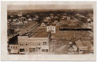 Real Photo Postcard Birds Eye View looking East in Minden, Nebraska~106523