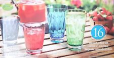 NEW 16 Piece Colour Acrylic Tumbler Set - BPA Free - New Indoor/Outdoor Use