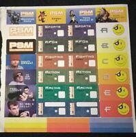 PlayStation 1 Official Sony Playstation Magazine Memory Card Sticker Sheet Rare