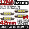 4x 3 SMD LED 42mm 264 CANBUS ERROR XENON WHITE NUMBER PLATE LIGHT FESTOON BULB