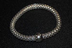 "SILPADA - B2788 - Flexible Sterling Silver ""Sterling Chic Stretch"" Bracelet"
