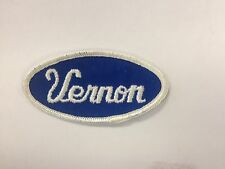 Vtg Usa Name Patch (Vernon) Uniform Shirt Jacket