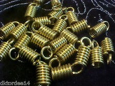 Vtg 50 BIG STEAM PUNK BRASS SCREW DANGLE / BEAD CAP 18mm #040514f