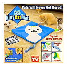 Kitty Cat Mat Crinkle With 4 Toys & Cat Nip Asotv Your Cat Will Never Get Bored