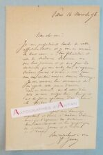 L.A.S 1896 Alfred GERVAIS à ses amis DELAMARRE - Officier de Marine né à Provins
