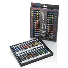Artworx Artists High Viscosity 24 Colours x 12ml Thick Acrylic Paint Tube Set