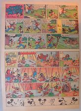 Mickey Mouse Sunday Page by Walt Disney from 6/8/1941 Tabloid Page Size