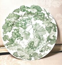 CERAMICA Quadrifoglio Italy Green Grapes & Leaves Large Dinner Chop Plate 11.5""