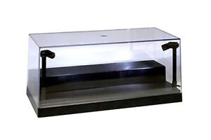 Collectible Display Case w. LED lights & Riser for 1/24 Diecast Model car BLACK