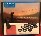 Apexel 10 in 1 Cell Phone Camera Lens Kit Wide Angle MacroLens Fisheye