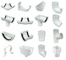 White Round Gutter and Gutter Down Pipe - White Round Pipe - Gutter Accessories