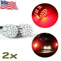 2pc Red Light 1157 BAY15D 50 SMD 1206 LED Car Tail Stop Brake Lamp Bulb 12V US