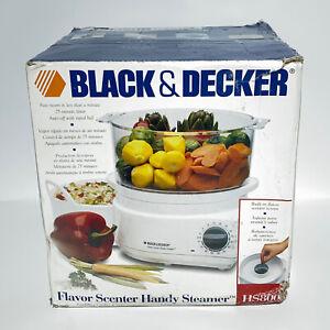 Black & Decker 2 Quart Flavor Scenter Handy Steamer HS800 Food Steamer Open Box