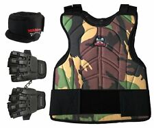 Maddog Tactical Half Finger Glove Chest Protector and Pro Neck Combo Camo Lxl